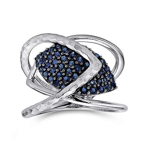 925 Silver Sapp Ring angle 4