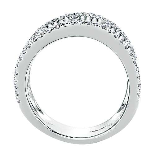 925 Silver Scalloped Fashion Ladies' Ring angle 2