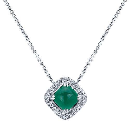 Gabriel - 925 Silver Scalloped Fashion Necklace