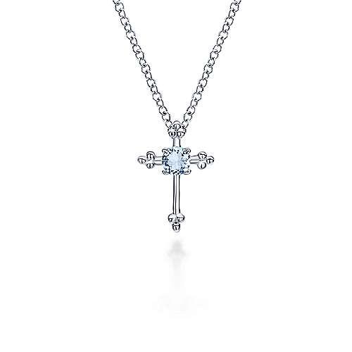 925 Silver Secret Garden Cross Necklace