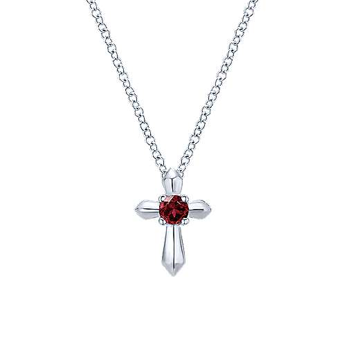 Gabriel - 925 Silver Secret Garden Cross Necklace