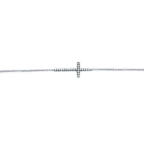 925 Silver Shadow Play Cross Bracelet angle 2