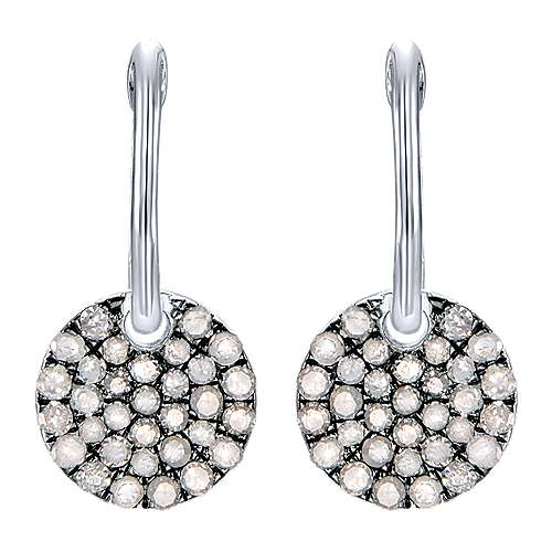Gabriel - 925 Silver Shadow Play Drop Earrings