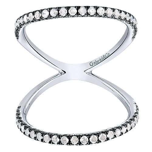 925 Silver Shadow Play Fashion Ladies' Ring angle 4