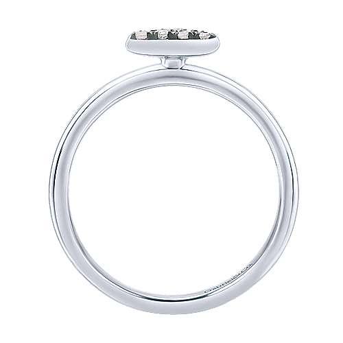925 Silver Shadow Play Fashion Ladies' Ring angle 2