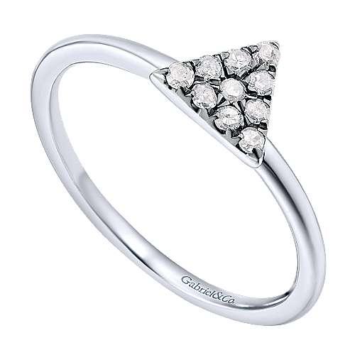 925 Silver Shadow Play Fashion Ladies' Ring angle 3