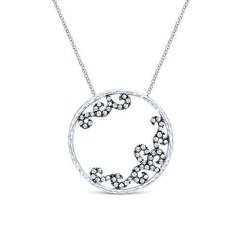 Gabriel - 925 Silver Shadow Play Fashion Necklace