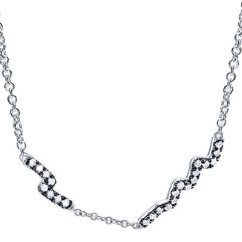 Gabriel - 925 Silver Shadow Play Fashion Necklace