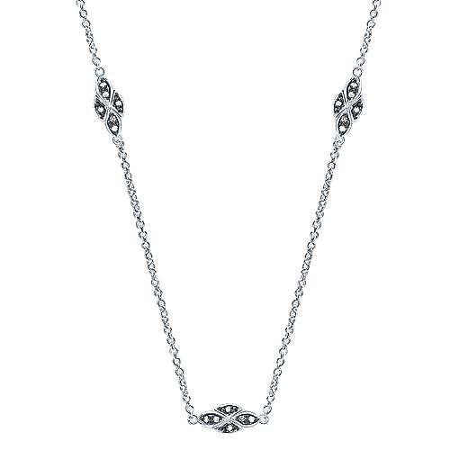 925 Silver Shadow Play Fashion Necklace