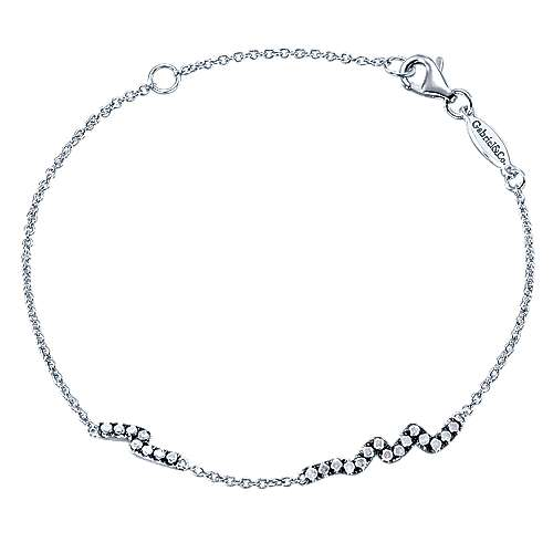 925 Silver Shadow Play Tennis Bracelet angle 1