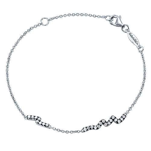 Gabriel - 925 Silver Shadow Play Tennis Bracelet