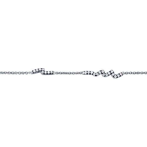 925 Silver Shadow Play Tennis Bracelet angle 2