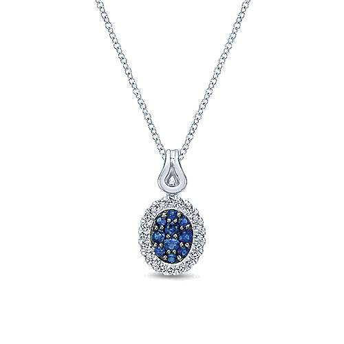 925 Silver Silk Fashion Necklace angle 1