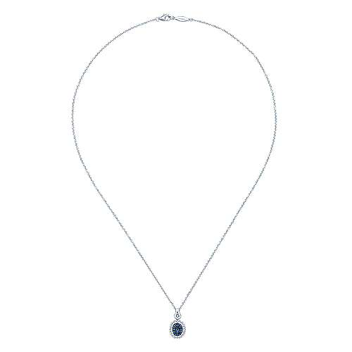 925 Silver Silk Fashion Necklace angle 2
