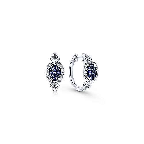 925 Silver Silk Huggie Earrings angle 1