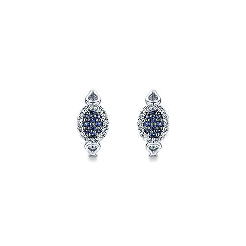 925 Silver Silk Huggie Earrings angle 3