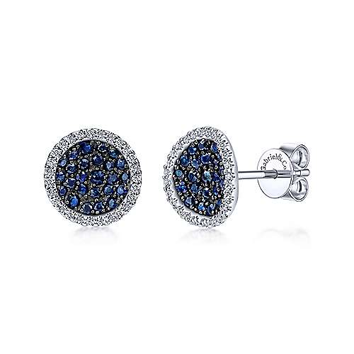 Gabriel - 925 Silver Silk Stud Earrings