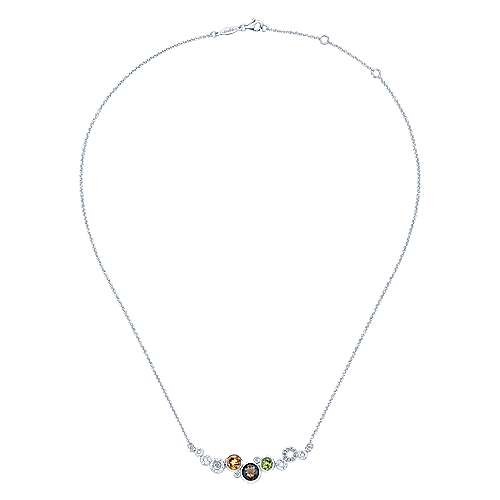 925 Silver Souviens Bar Necklace angle 2
