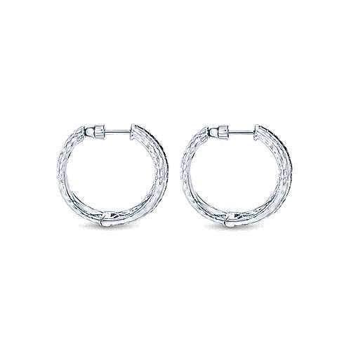 925 Silver Souviens Classic Hoop Earrings angle 2