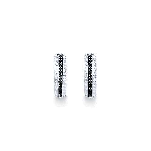 925 Silver Souviens Classic Hoop Earrings angle 3