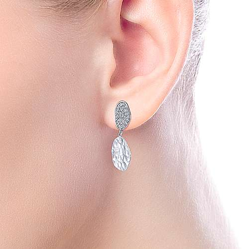 925 Silver Souviens Drop Earrings angle 2