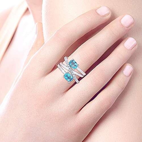 925 Silver Souviens Fashion Ladies' Ring angle 5