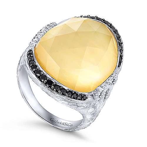 925 Silver Souviens Fashion Ladies' Ring angle 3