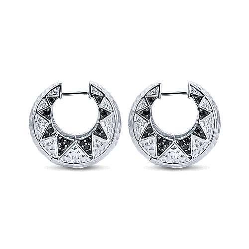 925 Silver Souviens Huggie Earrings angle 2