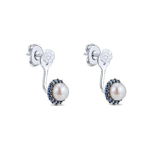 925 Silver Souviens Peek A Boo Earrings angle 2