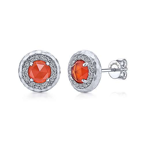925 Silver Souviens Stud Earrings angle 1