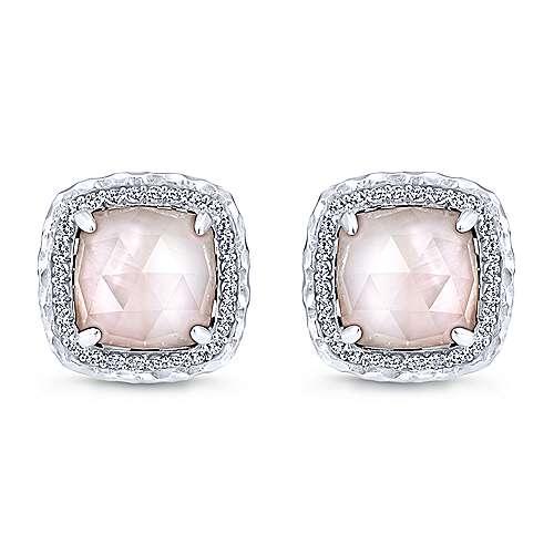 925 Silver Souviens Stud Earrings angle 1