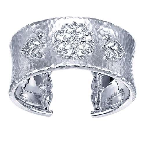 Gabriel - 925 Silver Souviens Wide Cuff Bangle