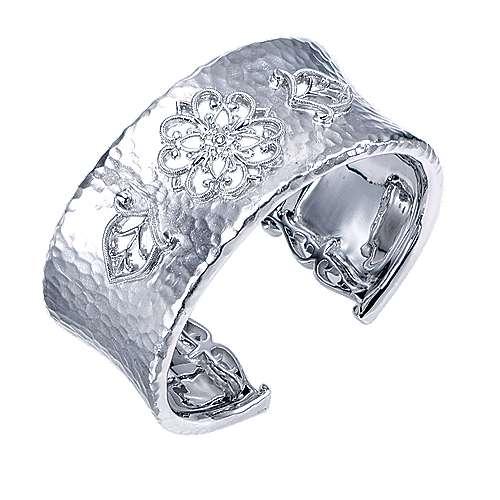 925 Silver Souviens Wide Cuff Bangle