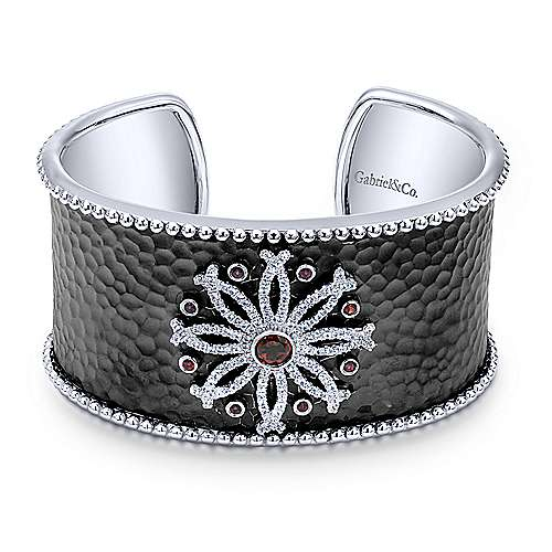 Gabriel - 925 Silver Souviens Wide Cuff Bangle