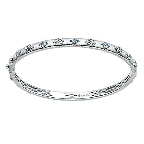 925 Silver Stackable Bangle angle 1