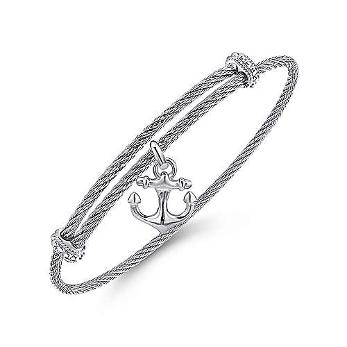 925 Silver-Stainless Steel Fashion Bangle angle 2