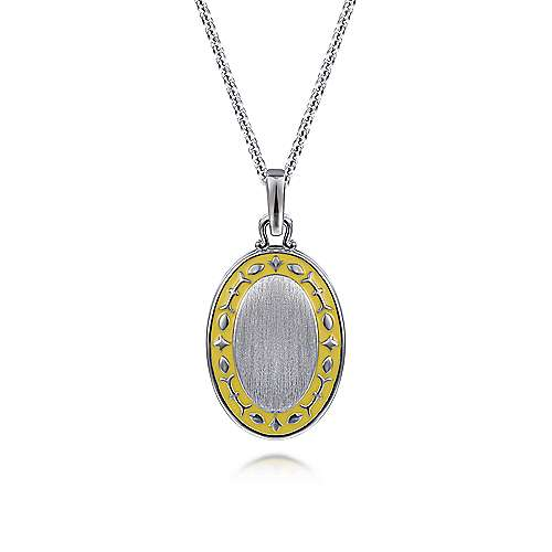 925 Silver Swing Locket Necklace angle 1