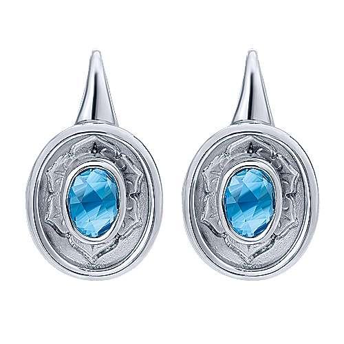 Gabriel - 925 Silver Floral Drop Earrings