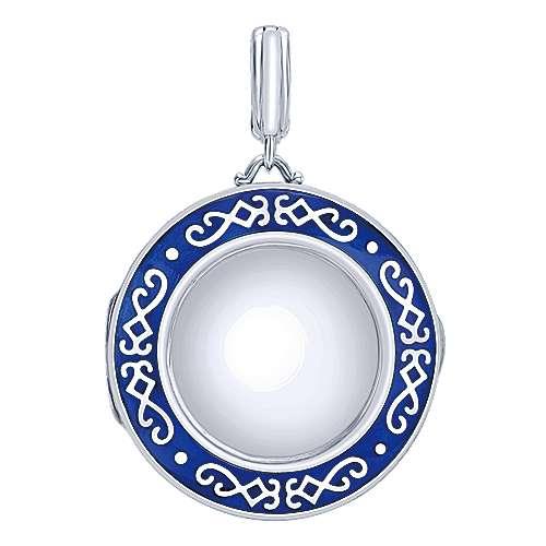 925 Silver Treasure Chests Fashion Pendant angle 1