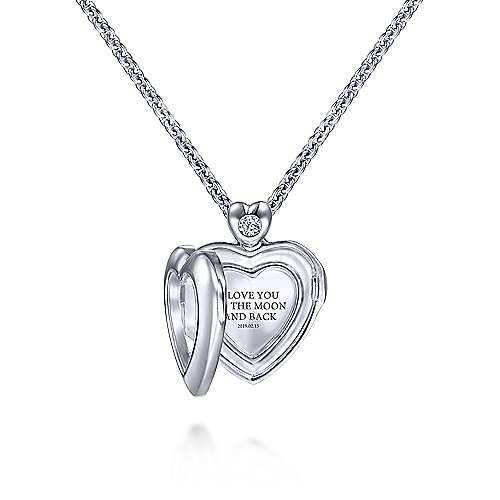 925 Silver Treasure Chests Locket Necklace angle 2
