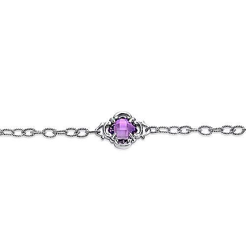 925 Silver Victorian Chain Bracelet angle 2
