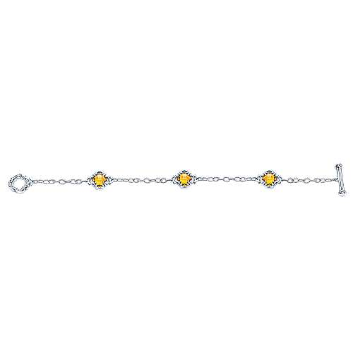 925 Silver Victorian Chain Bracelet angle 3