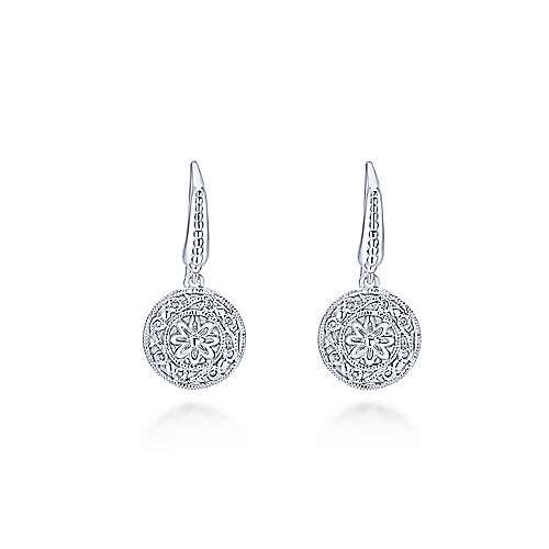 Gabriel - 925 Silver Victorian Drop Earrings