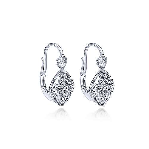 925 Silver Victorian Drop Earrings