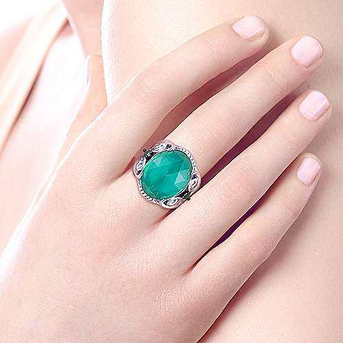 925 Silver Victorian Fashion Ladies' Ring angle 5