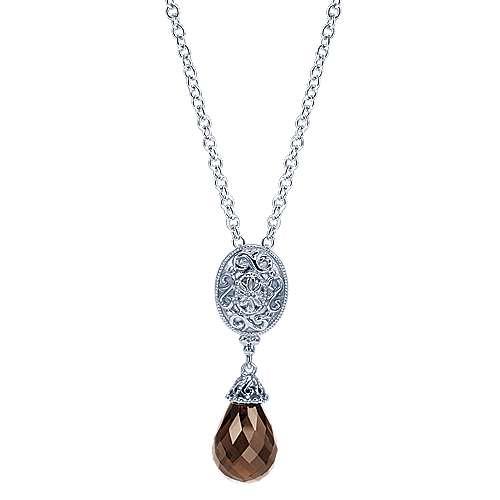 925 Silver Victorian Fashion Necklace angle 1