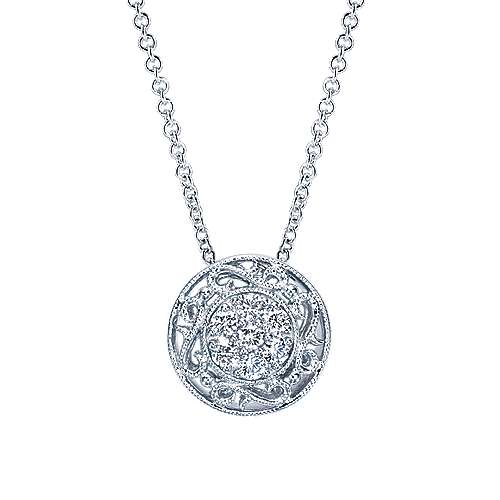 925 Silver Victorian Fashion Necklace