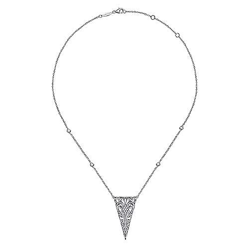 925 Silver Victorian Fashion Necklace angle 3