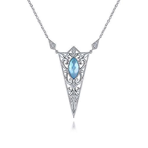 925 Silver Victorian Fashion Necklace