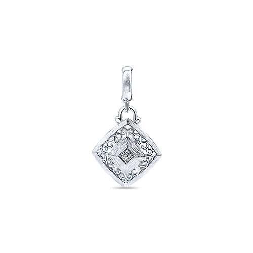 925 Silver Victorian Fashion Pendant angle 1